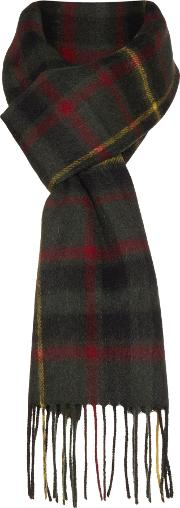 Howick , Grid Check Scarf, Forest Green