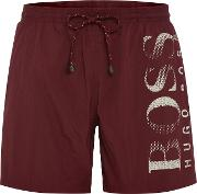Hugo Boss , Men's  Octopus Swim Shorts, Red