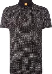 Hugo Boss , Men's  Perhaps Mini Paisley Print Polo, Black