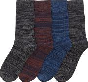 Jack & Jones , Men's  4 Pack Jacspace Socks, Multi Coloured