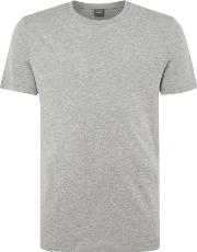 Jack & Jones , Men's  Plain Crew Neck Cotton T Shirt, Light Grey