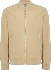 Jack & Jones , Men's  Zip Through Bomber Jacket, Stone