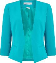 Jacques Vert , Crepe Jacket, Turquoise