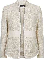 Jaeger , Cotton Tweed Tailored Jacket, Neutral