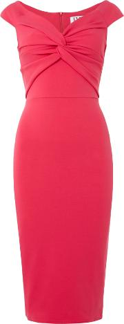 Jessica Wright , Off Shoulder Bodycon Dress, Pink