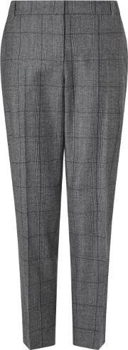 Jigsaw , Check Portofino Trouser, Grey