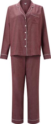 Jigsaw , Florence Cotton Blend Pyjamas, Wine