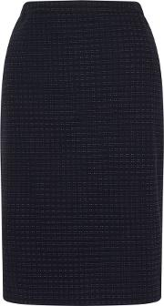 Jigsaw , Square Spot Jacquard Skirt, Blue