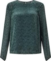 Jigsaw , Velvet Spot Top, Green