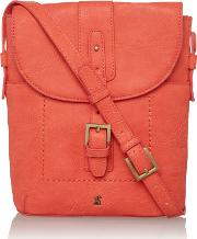 Joules , Pu Cross Body Bag, Coral