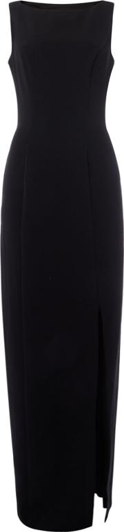 Js Collections , Js Collections Black Gown Dress With Cut Out Back, Black