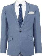 Kenneth Cole , Men's  Skylar Slim Single Breasted Notch Lapel Jacket, Blue