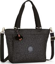 Kipling , Kipling New Shopper Small Shoulder Bag, Black Croc