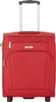 Linea , Hamilton Red 2 Wheel Soft Cabin Suitcase, Red