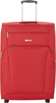 Linea , Hamilton Red 2 Wheel Soft Large Suitcase, Red