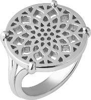 Links Of London , Timeless Sterling Silver Coin Ring Size L, Na