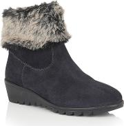 Lotus , Namika Suede Ankle Boots, Navy