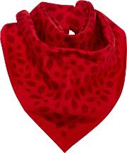 Lulu Guinness , Scattered Lips Twill Silk Scarf, Red
