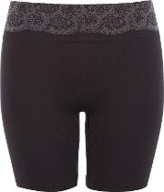 Maidenform , Peek Out Shpaers Seamless Shorty, Black