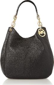 Michael Kors , Fulton Black Large Hobo Bag, Black