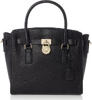 Michael Kors , Hamilton Large Satchel Tote Bag, Black