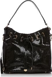 Moda In Pelle , Granziabag, Black