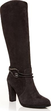 Moda In Pelle , Viano Knee High Ankle Boots, Grey