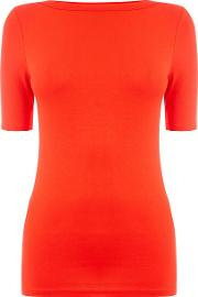 Oasis , New Envelope Neck Tee, Red