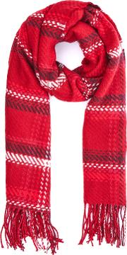 Oasis , Preppy Check Scarf, Red
