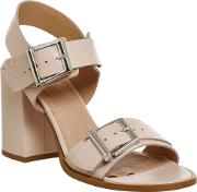 Office , Monday Two Buckle Sandals, Nude