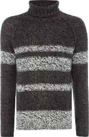 Only & Sons , Men's  Stripe High Neck, Grey