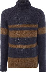 Only & Sons , Men's  Stripe High Neck, Navy