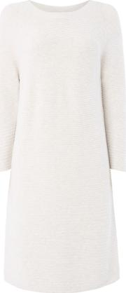 Oui , Knitted Dress, Off White