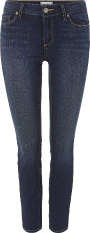Paige , Paige Verdugo Mid Rise Ankle Skinny Jeans In Nottingham, Denim Dark Wash