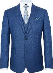 Paul Costelloe , Men's  Bromley Wool Birdseye Suit Jacket, Blue