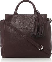 Pieces , Fabriola Burgundy Crossbody Bag, Burgundy