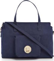 Pieces , Lene Tote Bag, Navy