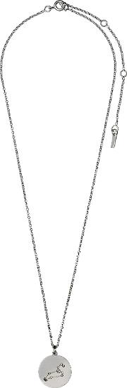 Pilgrim , Leo Crystal Silver Plated Necklace, N