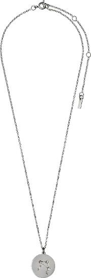Pilgrim , Libra Crystal Silver Plated Necklace, N