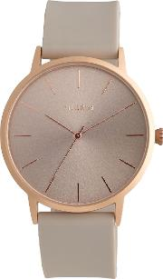 Pilgrim , Rose Gold Pretty And Delicate Watch, Brown