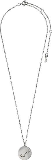 Pilgrim , Scorpio Crystal Silver Plated Necklace, N