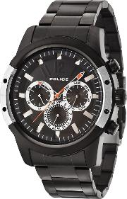 Police , Gents Black Bracelet Watch, Black