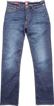 Pretty Green , Men's  Burnage Straight Fit Rinse Washed Jeans, Denim