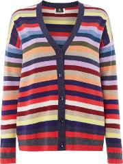 Ps By Paul Smith , Striped Cardigan, Multi Coloured