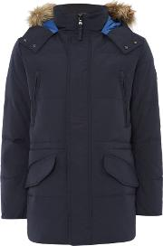 Puffa , Men's  George Down Filled Parka, Navy