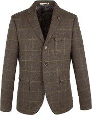 Racing Green , Men's  Conroy Check Blazer, Dark Green