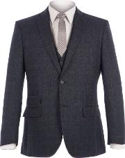 Racing Green , Men's  Fratton Navy Charcoal Jaspe Check Jacket, Navy