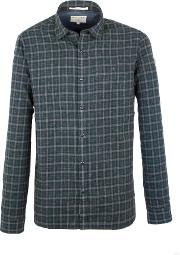 Racing Green , Men's  Gerry Brushed Check Shirt, Olive