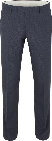Racing Green , Men's  Ward Puppytooth Tailored Trouser, Navy