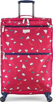 Radley , Paper Trail Lolly 4 Wheel Soft Large Case, Pink